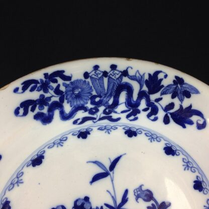 Liverpool delft plate, bowl of flowers, c.1760 -6311