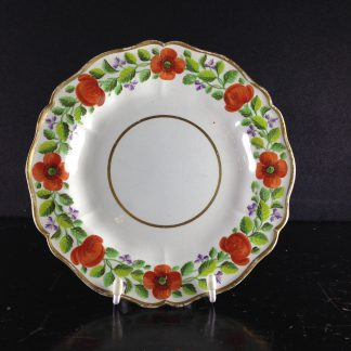 Swansea creamware plate, poppy pattern, impressed mark c.1810 -0