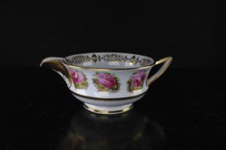 Etruscan shape milk jug, Davenport, rose pattern, c.1815-0