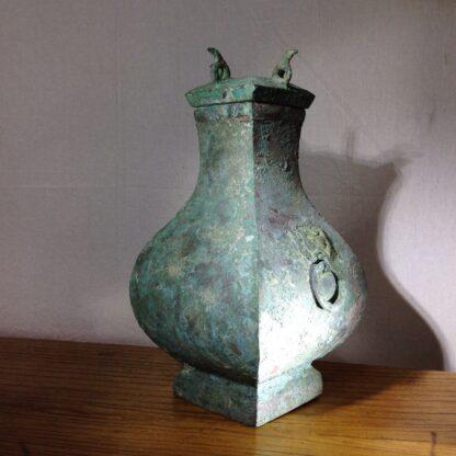 Bronze Fang Hu vase, Han dynasty , 206 BC - 221 AD -8849
