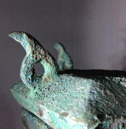 Bronze Fang Hu vase, Han dynasty , 206 BC - 221 AD -8851