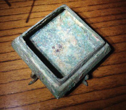 Bronze Fang Hu vase, Han dynasty , 206 BC - 221 AD -8852