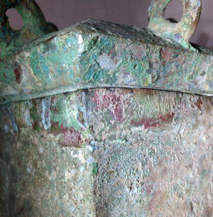 Bronze Fang Hu vase, Han dynasty , 206 BC - 221 AD -8855