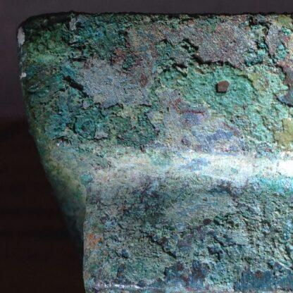 Bronze Fang Hu vase, Han dynasty , 206 BC - 221 AD -8860