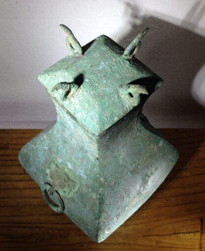 Bronze Fang Hu vase, Han dynasty , 206 BC - 221 AD -8845