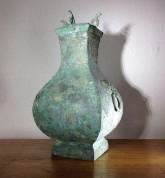 Bronze Fang Hu vase, Han dynasty , 206 BC - 221 AD -0