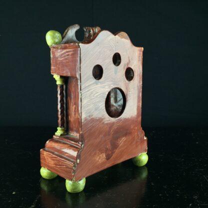 Pearlware 'bracket clock' pocket watch stand, C. 1820 -9059