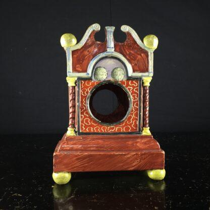 Pearlware 'bracket clock' pocket watch stand, C. 1820 -9060