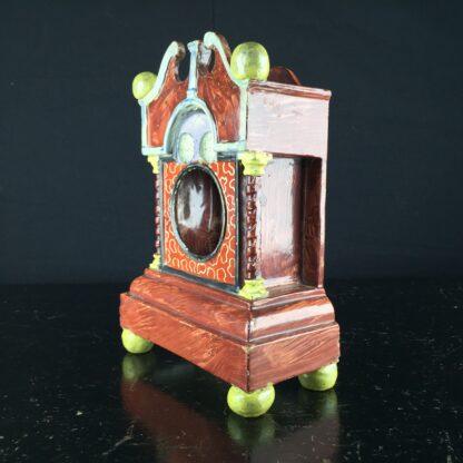 Pearlware 'bracket clock' pocket watch stand, C. 1820 -9061