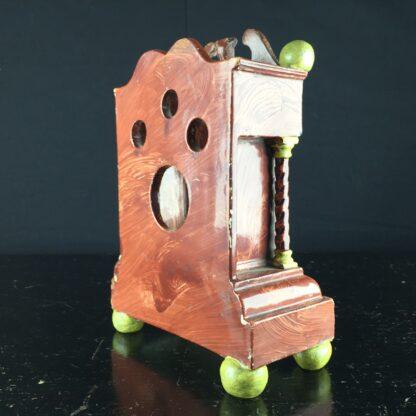 Pearlware 'bracket clock' pocket watch stand, C. 1820 -9062