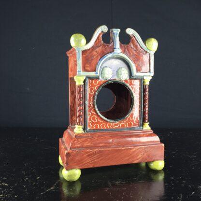 Pearlware 'bracket clock' pocket watch stand, C. 1820 -9063