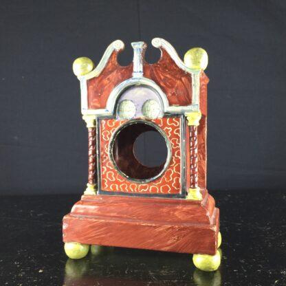 Pearlware 'bracket clock' pocket watch stand, C. 1820 -9065