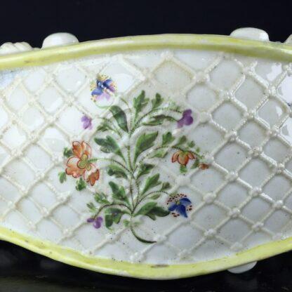 English pearlware pocket watch holder, clock face, c.1820 -9111