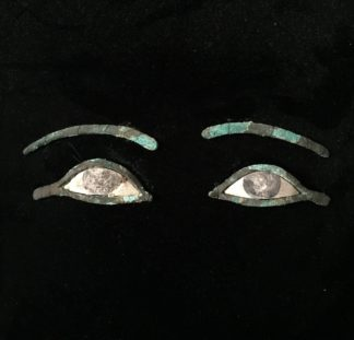 Egyptian bronze & limestone eyes, XXI - XXX Dynasty, -0