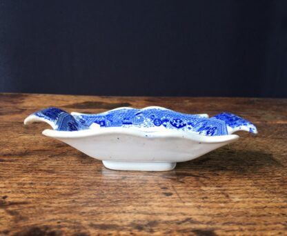 Staffordshire pickle dish, willow pattern, c.1820-23606
