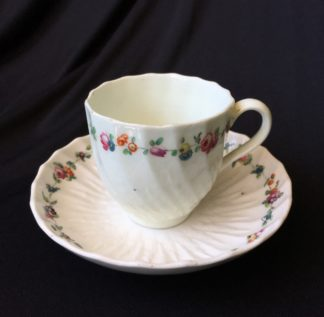 Chelsea - Derby cup & saucer with fluted moulding C1775 -0
