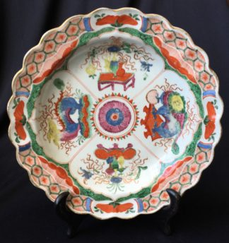 Worcester Dragons in Compartments plate, c.1770 -0