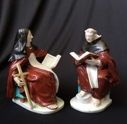 Pair of Derby figures - Nun & Priest - C. 1760 -0