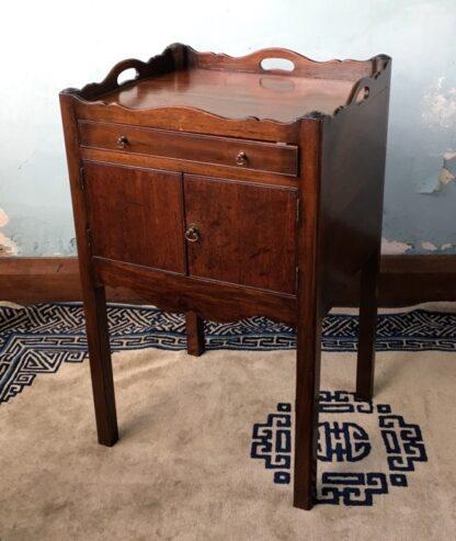 George III mahogany bedside cabinet, C. 1790 -0