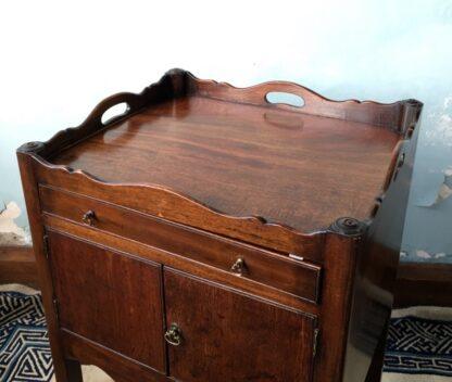 George III mahogany bedside cabinet, C. 1790 -24875