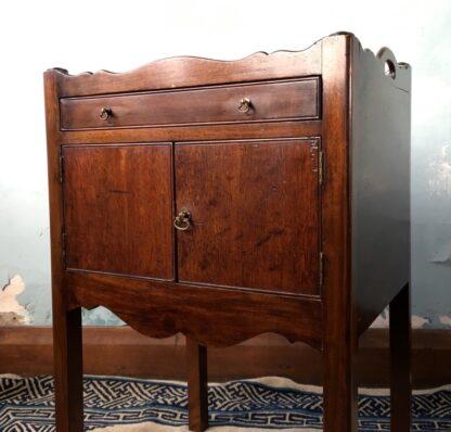 George III mahogany bedside cabinet, C. 1790 -24878