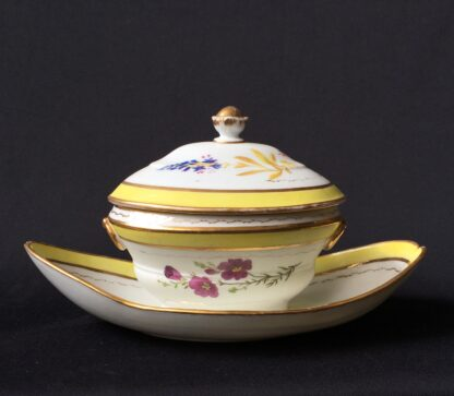 French porcelain tureen, decorated by Billingsly at Brampton, c. 1805 -20431