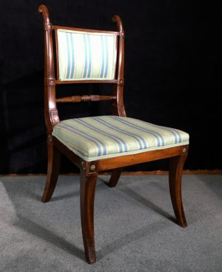 Regency mahogany chair, ormolu mounts, c.1815 -0