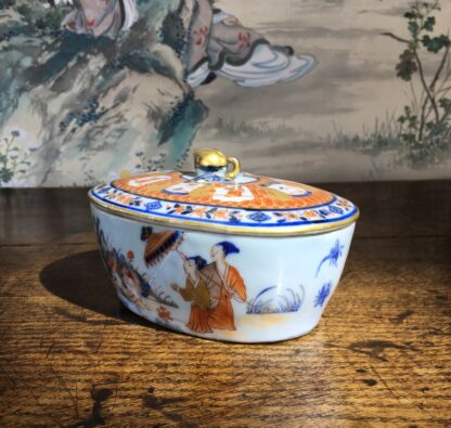 Chinese Export butter tub, Pronk Chinoiseries , c. 1745 -22273