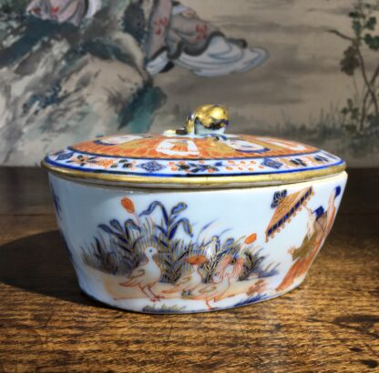 Chinese Export butter tub, Pronk Chinoiseries , c. 1745 -22279