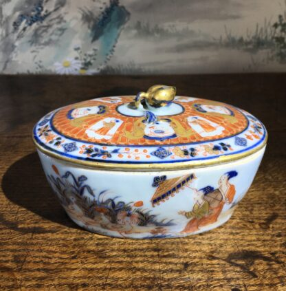 Chinese Export butter tub, Pronk Chinoiseries , c. 1745 -0