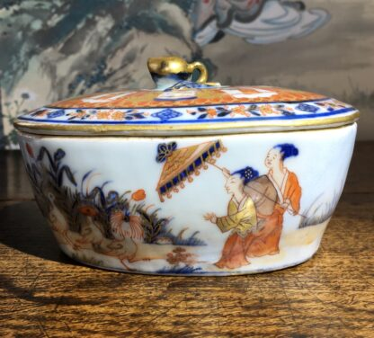 Chinese Export butter tub, Pronk Chinoiseries , c. 1745 -22274