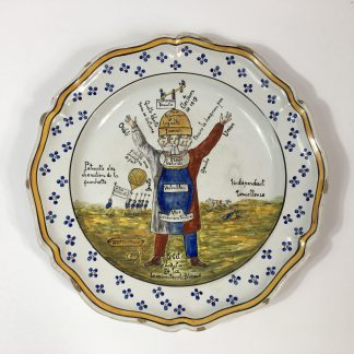French faience political charger, dated 1819 -0