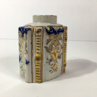 French faience tea canister, Rouen, c.1780 -0