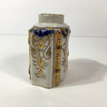 French faience tea canister, Rouen, c.1780 -23251