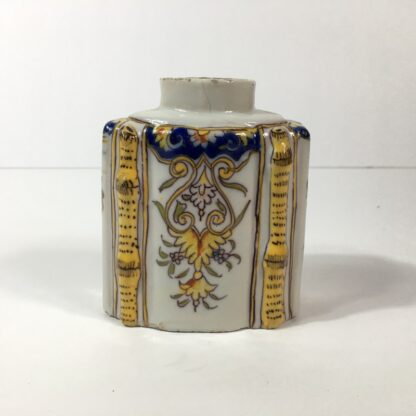 French faience tea canister, Rouen, c.1780 -23253