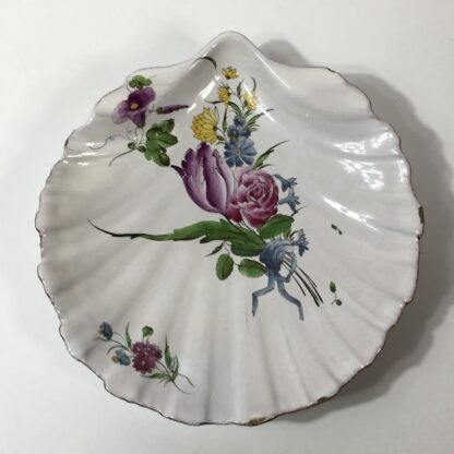 French faïence shell shape dish, attributed to Strasbourg, c. 1765 -23243