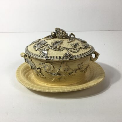 Yellow glaze pottery tureen in the English salt glaze tradition, C. 1860 -23236