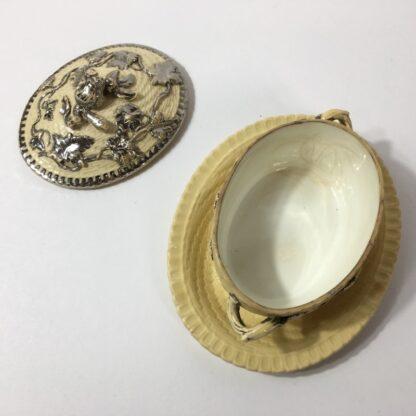 Yellow glaze pottery tureen in the English salt glaze tradition, C. 1860 -23234