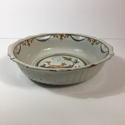 French faience basin with fox, c 1760-23213