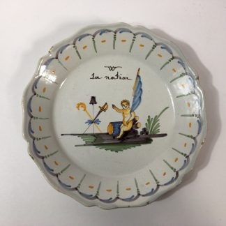 French Revolutionary faience plate, la Nation, Nevers, c.1795 -0