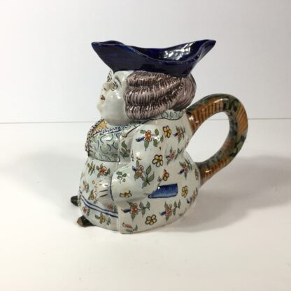 French faience Jacqueline character jug, 18th/19th century -23199