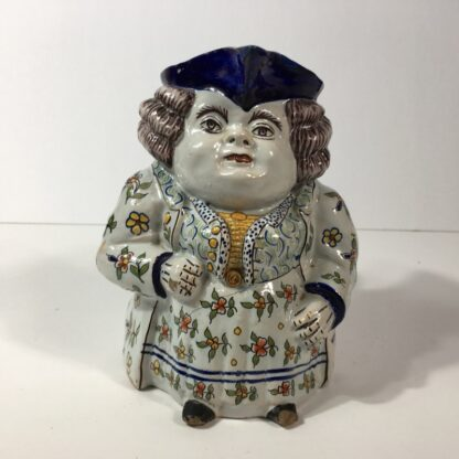 French faience Jacqueline character jug, 18th/19th century -23201