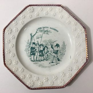 Child's plate - Davenport YOUNG SOLDIERS- dated 1844 -0
