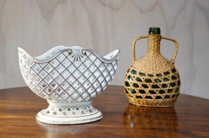 Meissen Flaschenständer, basketweave form, circa 1745