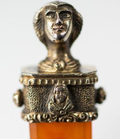 Renaissance style agate & silver gilt spoon, C. 1880 -13113