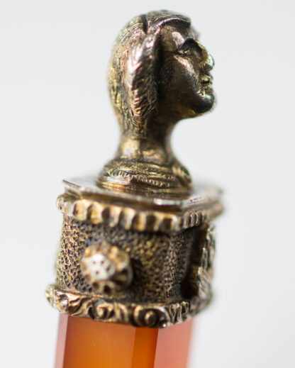 Renaissance style agate & silver gilt spoon, C. 1880 -13114