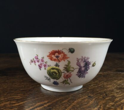 Meissen waste bowl painted with flowers, c. 1750 -11728