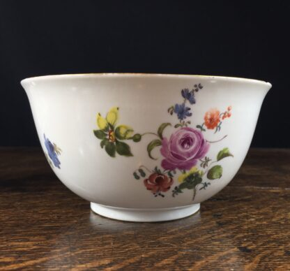 Meissen waste bowl painted with flowers, c. 1750 -0