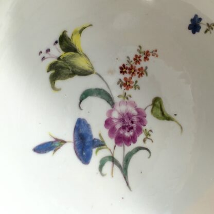 Meissen waste bowl painted with flowers, c. 1750 -11735