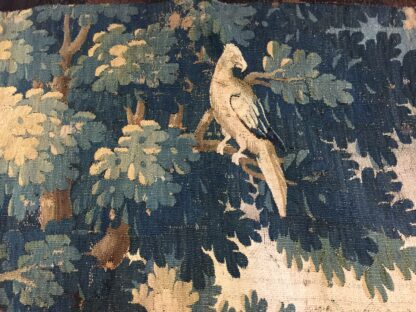 Large Aubusson tapestry with wooded landscape & birds, C. 1690 -11775